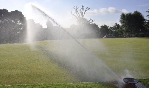 Bowling Green sprinkler in action